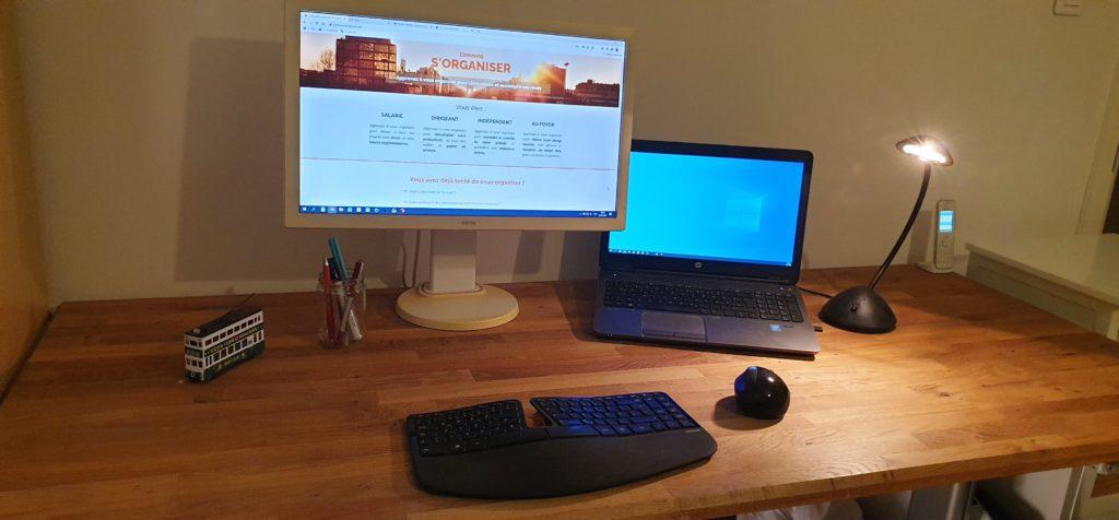 Poste de travail informatique ergonomique